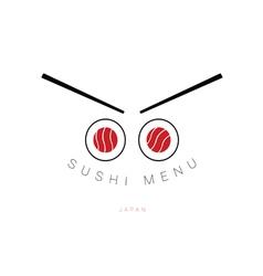 Sushi menu icon vector