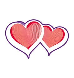 Two loving hearts romantic rendezvous vector