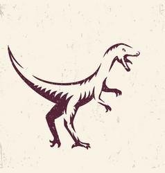 Velociraptor dinosaur vector