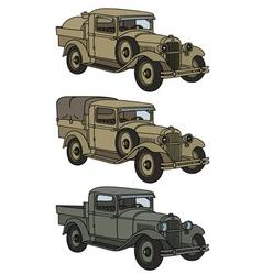 Vintage military trucks vector image vector image