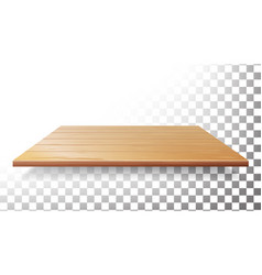 Wooden table top floor wall shelf vector