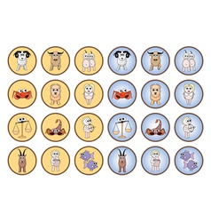 Zodiac web buttons vector