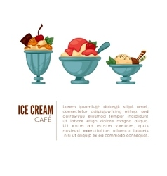 Colorful tasty ice cream vector image