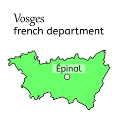 Vosges french department map vector