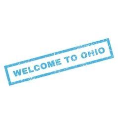 Welcome to ohio rubber stamp vector