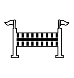 Fence equestrian isolated icon vector