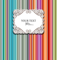 Colorful fabric background design vector