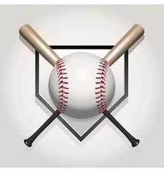 baseball bat homeplate vector image