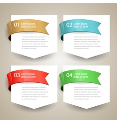 Sale label blank paper with ribbon design vector