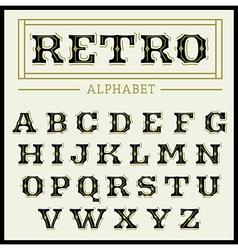 Vintage font set vector