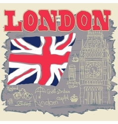 London typography graphics t-shirt design vector