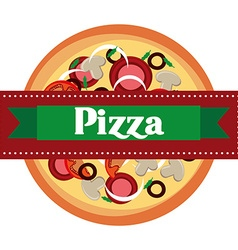 Delicious pizza design vector