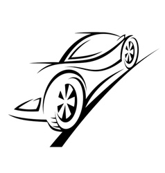Silhouette of sport car vector