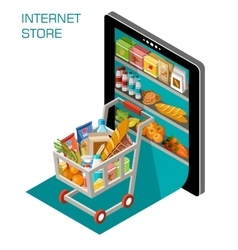 Internet store vector