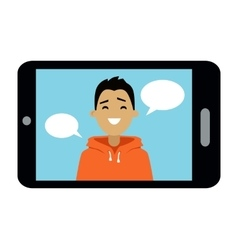Video communication smart phone vector