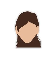 Woman head icon avatar female design vector