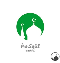 Arabian religious logo Mosque silhouette in a vector image vector image