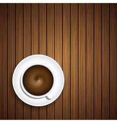 coffee on wooden background Eps10 vector image