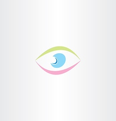 colorful logo abstract human eye icon vector image