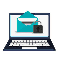 Cyber security technology data email padlock vector