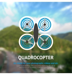 Drone quadrocopter background vector