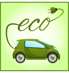 Electric car with eco design vector