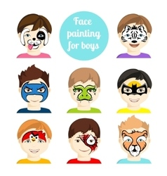Face painting 2 vector image vector image