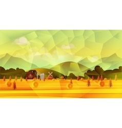 Farm low poly background vector image