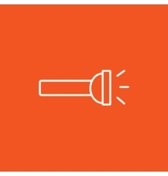 Flashlight line icon vector image