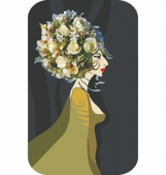 flower queen vector image vector image