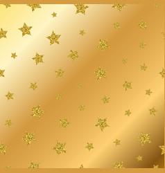 golden glitter stars seamless pattern vector image