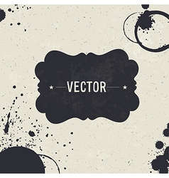 Grunge styled design template vector image