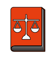 justice book with scale vector image