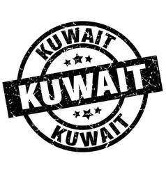 Kuwait black round grunge stamp vector