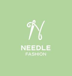 modern professional sign logo needle vector image