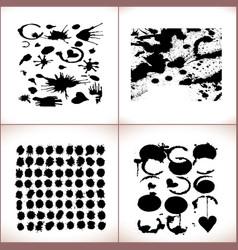 paint splashes set black paint vector image