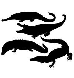 Reptile silhouette vector