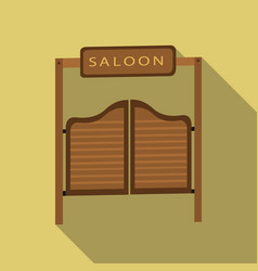 Saloon icon flate singe western icon from the vector