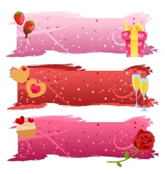 Set of Valentine banners vector image