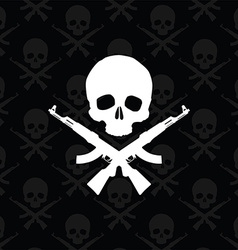 Skull with rifles vector image
