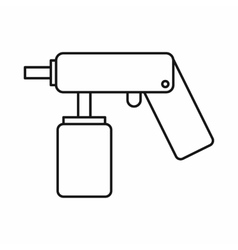 Spray aerosol can bottle with a nozzle icon vector