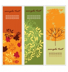 vertical autumn banners vector image vector image