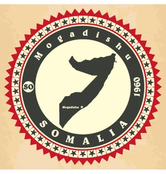 Vintage label-sticker cards of Somalia vector image vector image