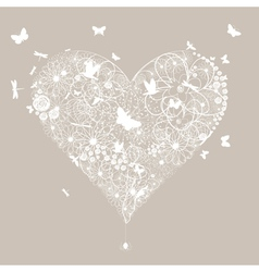 Wedding heart vector