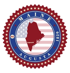 Label sticker cards of state maine usa vector