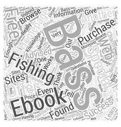 Bass fishing homepage word cloud concept vector