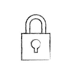 Padlock security device vector