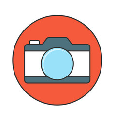 camera flat line icon vector image
