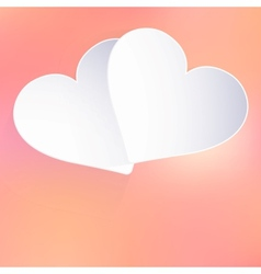 Valentines Day with paper heart shape EPS 10 vector image