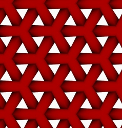 3d colored red triangular grid vector